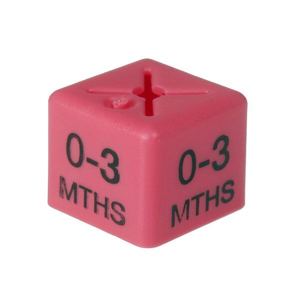 SHOPWORX CUBEX 'Age 0-3m' Size cubes - Pink (Pack 50)