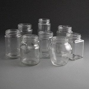 Glass Jars 230ml to 320ml.
