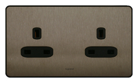 Legrand Synergy Double 13amp Socket Unswitched | LV0501.3240