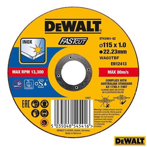 DeWALT SS/Inox Cutting 115X1X22.2mm Flat