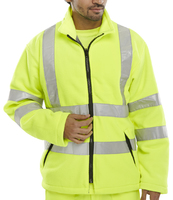 B-Seen Yellow Hi-Vis Luxury Full Zip Fleece