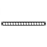 Penn Elcom 1U 19'' Punched Rack Panel - 16 D Type (R1269/1UK/16)
