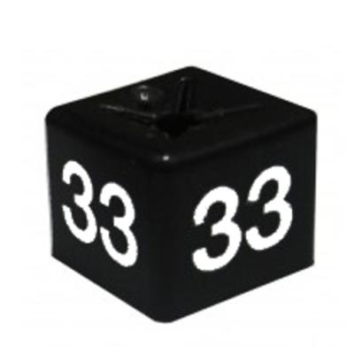 SHOPWORX CUBEX 'Size 33' Size cubes - Black (Pack 50)