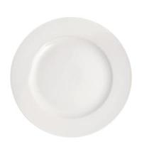 """Pure White Wide Rim Plate 10""""(25cm)"""