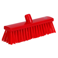 Soft Bristle Broom 300 mm, Red