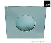 White Ip44 Square Bathroom Downlight | LV1202.0407