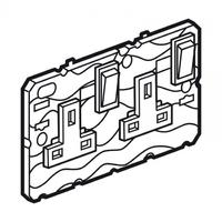 Arteor 2 Gang 13a Double Pole Twin Earth Socket - Magnesium  | LV0501.2517
