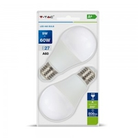 9W A60 LED E27 6400K Blister Pack