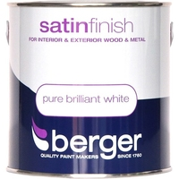 BERGER SATIN FINISH PAINT BRILLIANT WHITE 2.5 LTR