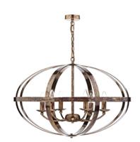 Dar Symbol 6 Light  Pendant Petrol Copper E14 (SES)