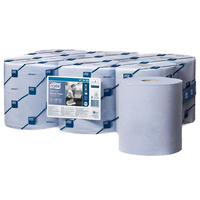 1ply Tork Reflex Wiping Paper, Blue