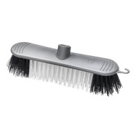 Addis Broom Head Stiff Bristle Metallic Silver