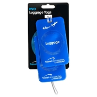 Korbond Travel PVC Luggage Tags Blue 2 pack