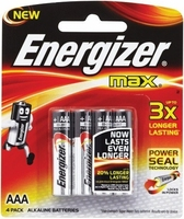 Energizer Max AAA Battery Packet 4