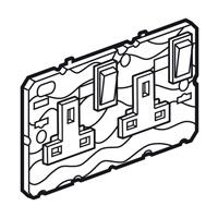 Arteor 2 Gang 13Amp Socket - White  | LV0501.0011