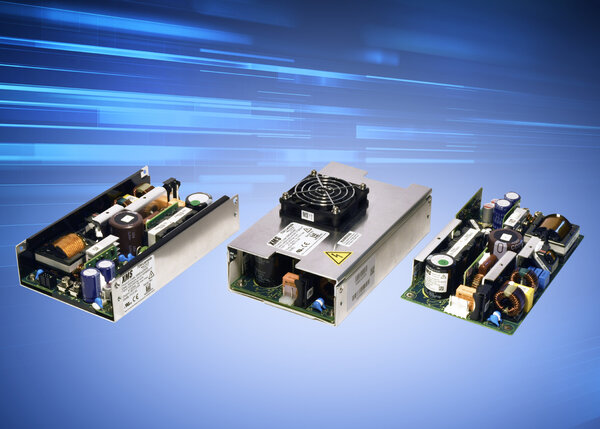500W low airflow medical configurable power supply series enhanced with additional features