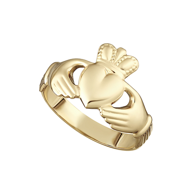 10K HALLOW BACK MAIDS CLADDAGH RING