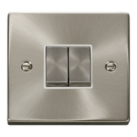 Click Litehouse DECO 2G 2Way Ingot Switch White insert, Satin Chrome