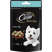 Cesar Mini-Joys Dog Treats - Cheese & Beef 100g x 6