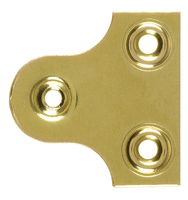 "Mirror Plates 25mm/1"" Brass Plated"