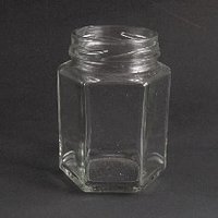 110ml Hexagonal glass Jar