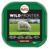 Nutro Wild Frontier Ancestral Dog Trays - Lamb & Beef in Loaf 300g x 20