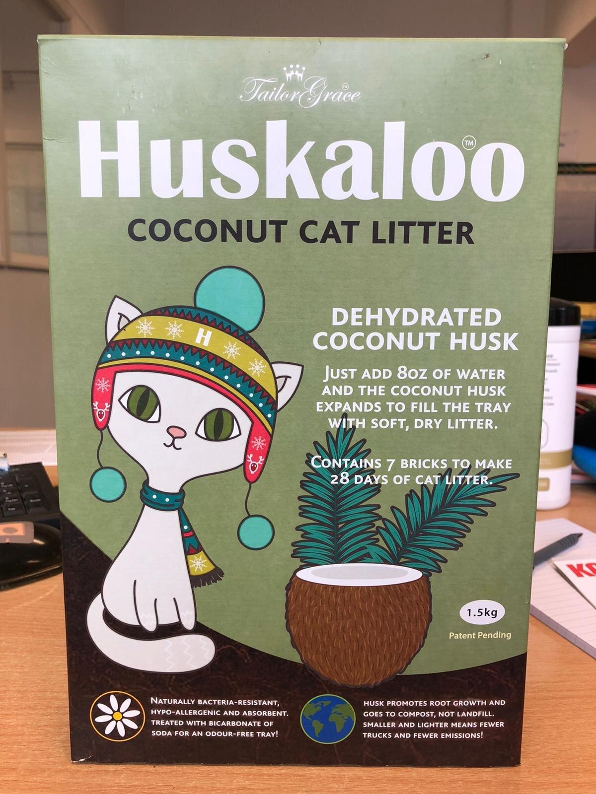 Huskaloo Coconut Cat Litter 28 Day 1.5kg