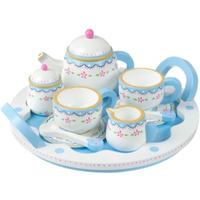 wooden toy tea set