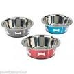 1381 Classic Stainless Steel Posh Paws Dish - Small 900ml x 6