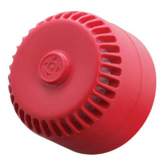 Fire Alarm Sounder 9-28vdc Shallow Base Red