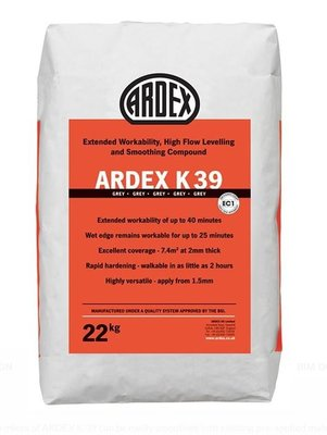 Ardex K39 Heavy Duty High Flow Levelling & Smoothing Compound 22kg