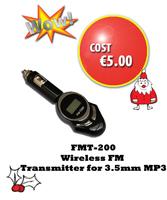 FMT200 Wireless FM Transmitter for 3.5mm MP3