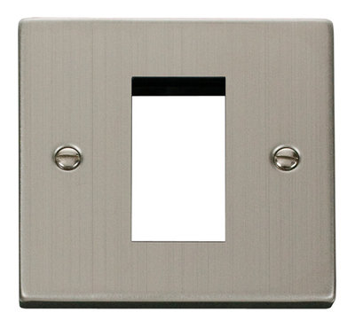 Click Deco Victorian Stainless Steel 1 Gang Single Aperture DATA Plate | LV0101.0121