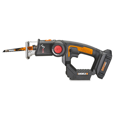 WORX 2 in 1 Cordless Reciprocating & Jig Saw– 20V
