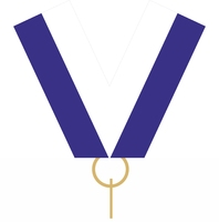 22mm Medal Ribbon with Clip (Blue & White)
