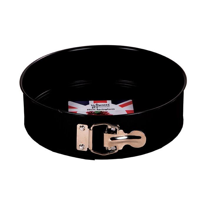 Wham Essentials 22cm Springform Cake Tin Black