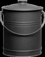 Blk Steel Coal Bucket With Lid