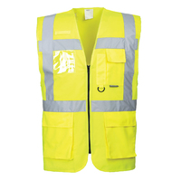 Portwest Berlin Executive Vest Hi-Vis Yellow