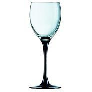 Domino Wine Goblet BlackStem 6.75oz 19cl  Carton of 24