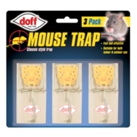 Doff Mouse Trap 3 Pack Clip Strip of 12