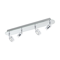 EGLO Agueda 1 Polished Chrome Quad Spot Wall Light LED 4x3.3w | LV1902.0039