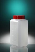 Square Bottle 500ml Hdpe Graduatedna H160 Ø22