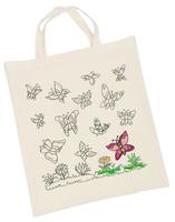Cotton Bag printed B/Flies(P/Set Min 1)6/Set)