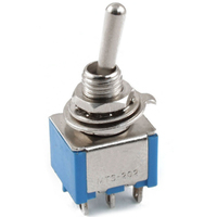 Switch| Toggle Switch Mini 6 Pins DPDT ON-ON 6A 125VAC