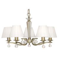 Maita 5 Light Ceiling Light Antique Brass