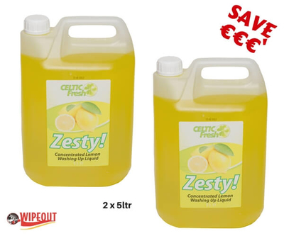 Celtic Fresh ZESTY Wash Up Lemon 2x5ltr spec