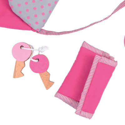 Toy Handbag with accessories - close up image