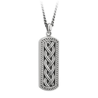 sterling silver celtic ingot pendant s46454 from Solvar