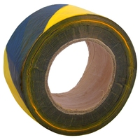 "3"" x 500m Barrier Tape (Black + Yellow) (WT398/8)"