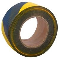 "3"" x 500m Barrier Tape (Black + Yellow) (WT398/8)"